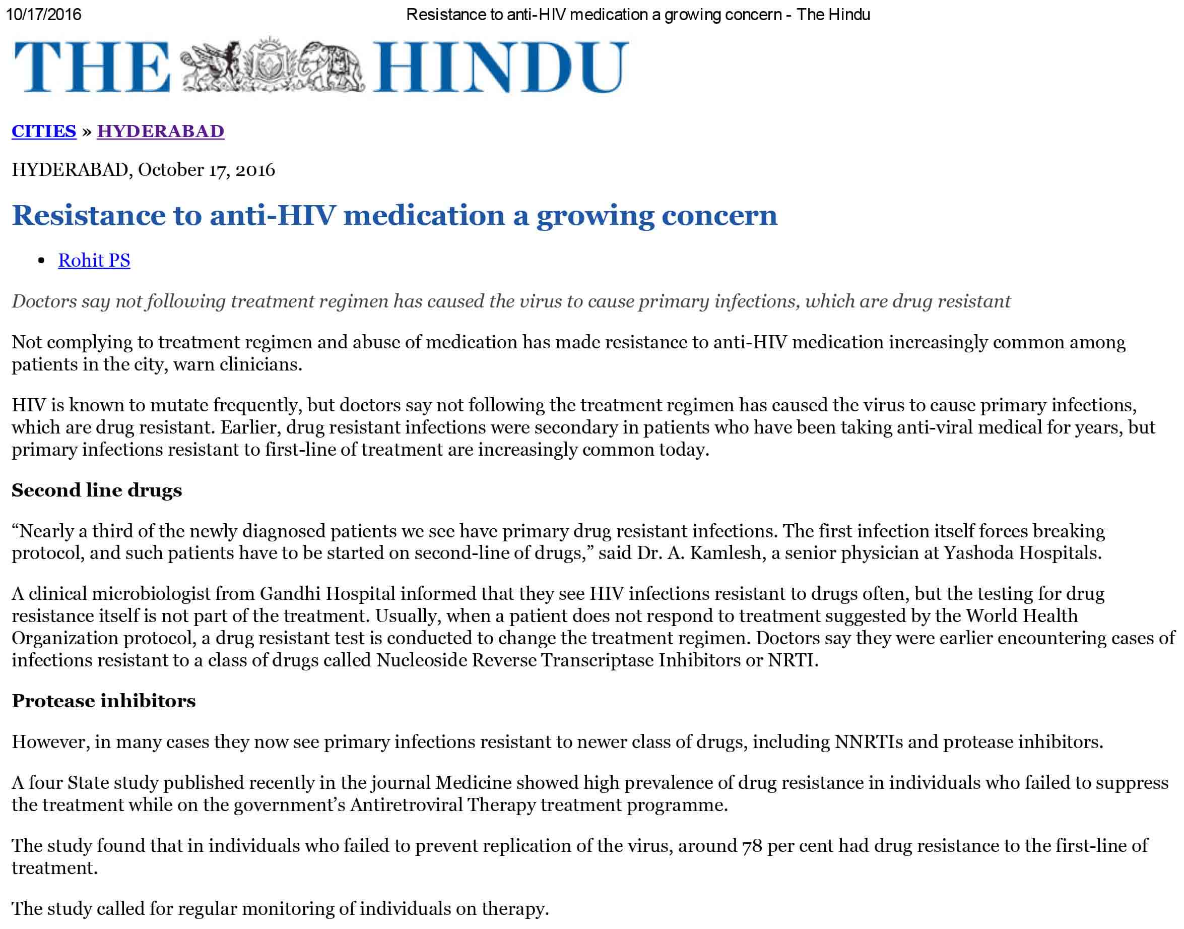 Resistance to anti-HIV medication a growing concern