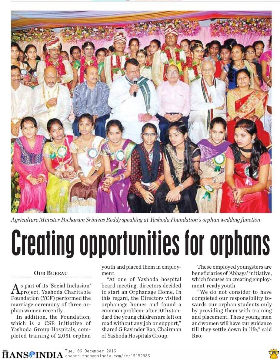Creating opportunities for orphans