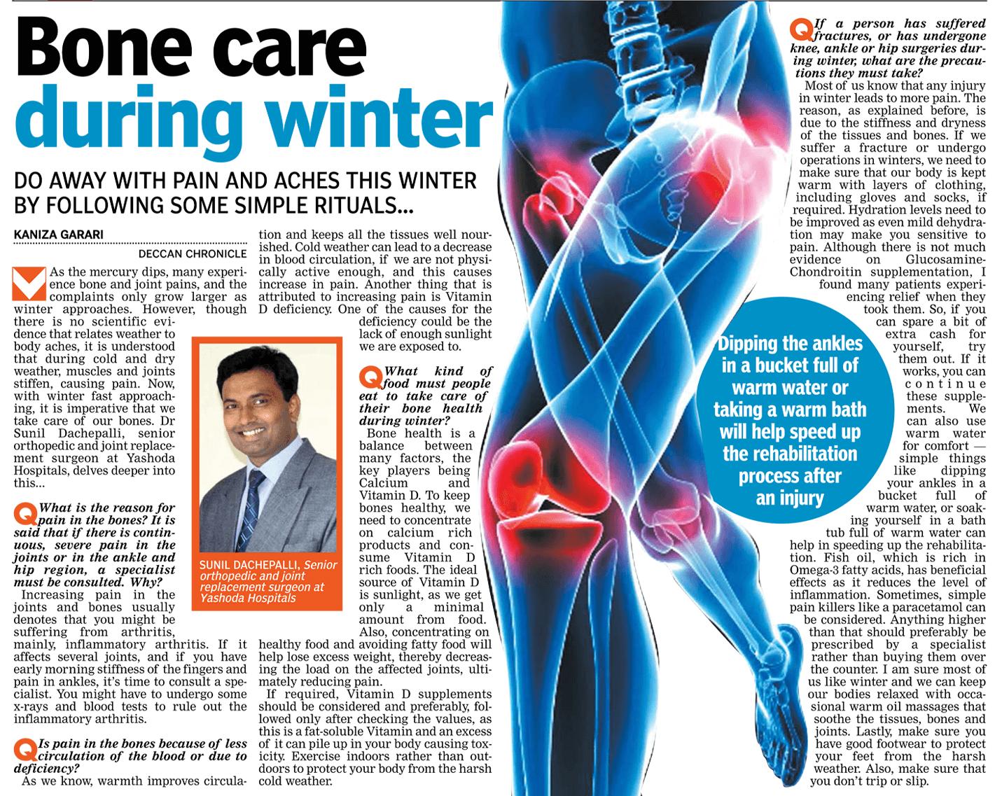Bone care during winter