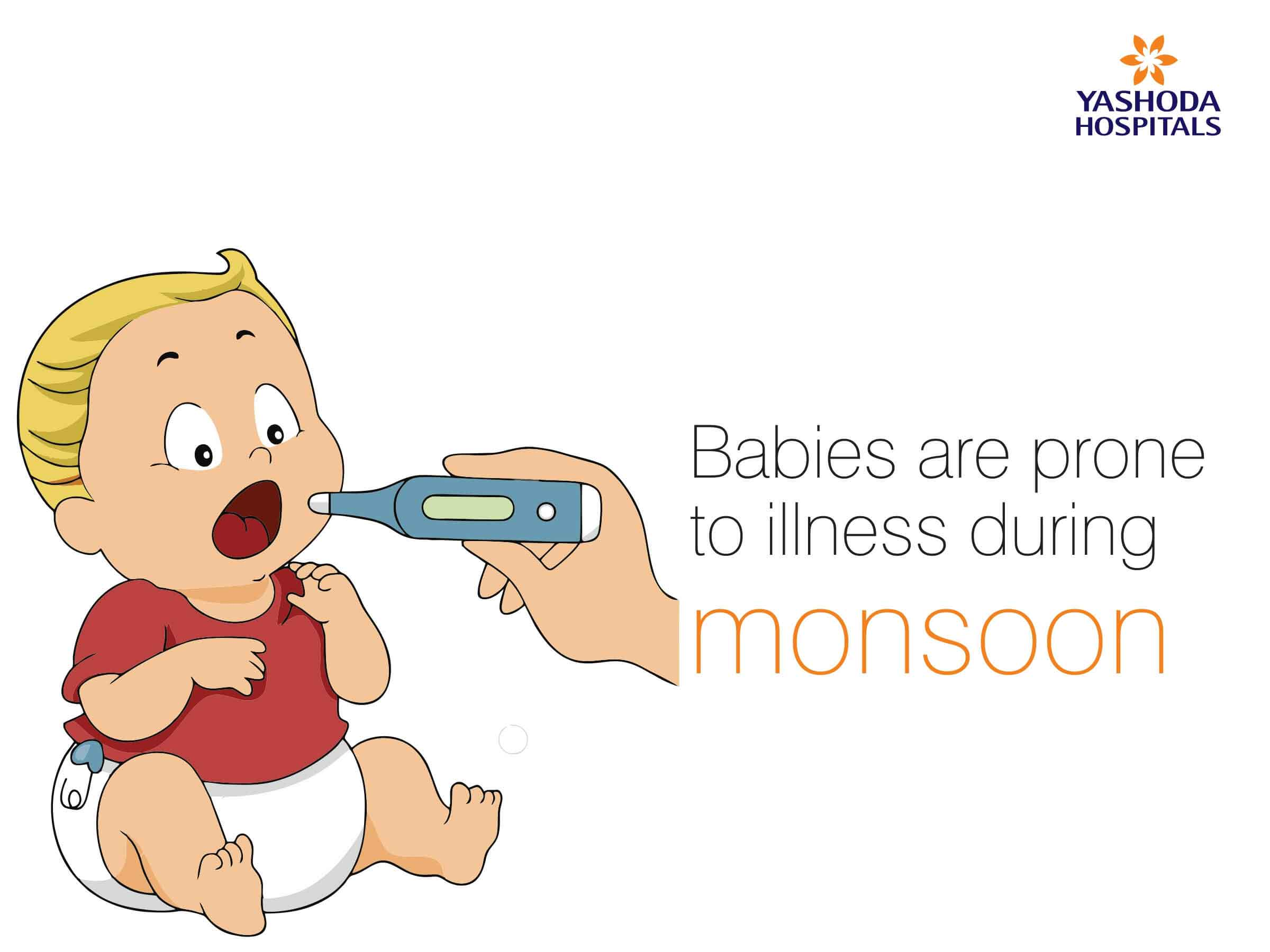 Common infections among babies Mansoon