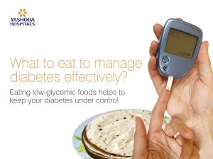Right diet to manage diabetes effectively