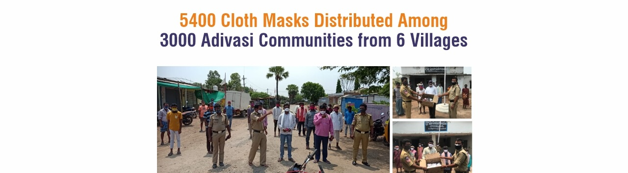 5400 Cloth Masks distributed in 6 villages