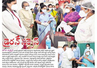 Yashoda hospitals free Covid Vaccination dry run hyderabad
