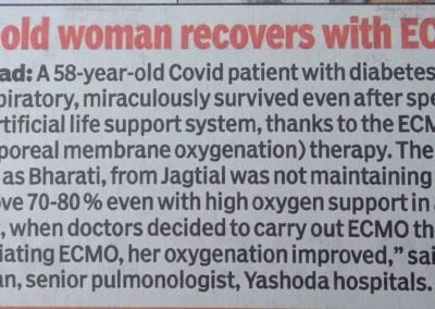 woman recovers with ECMO