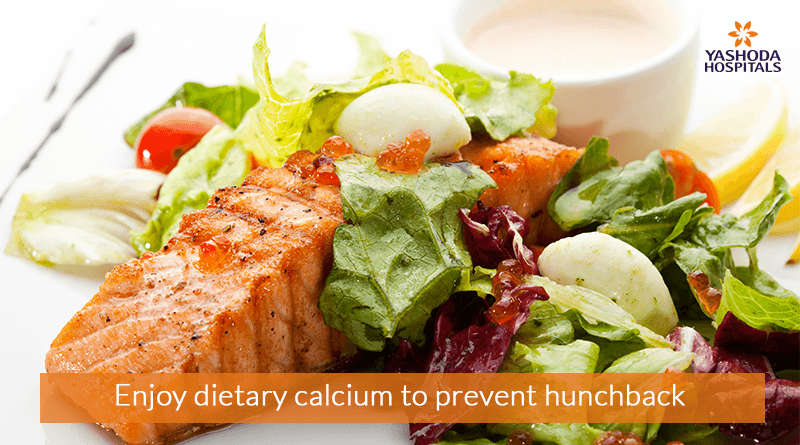 Enjoy dietary calcium to prevent hunch back