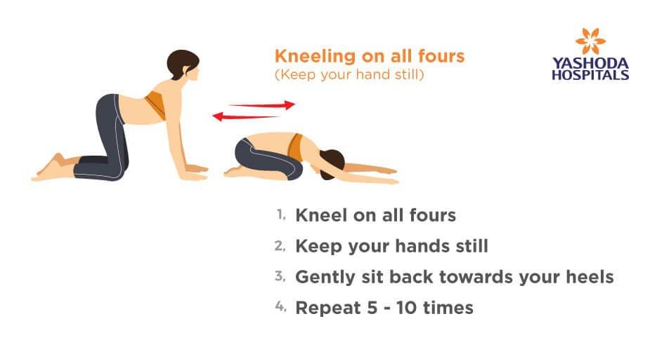 Frozen Shoulder Exercises Kneeling