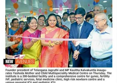 Inaugurated Mother & Child Institute