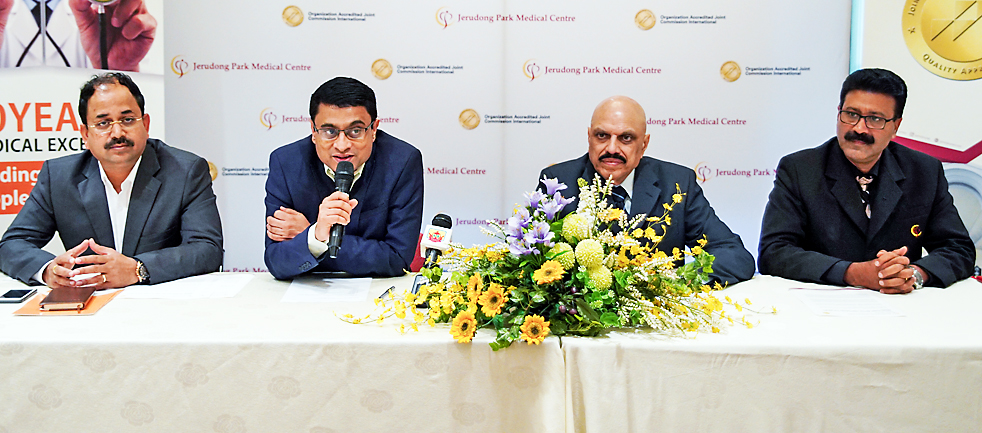 JPMC and Yashoda Hospitals officials during the press conference