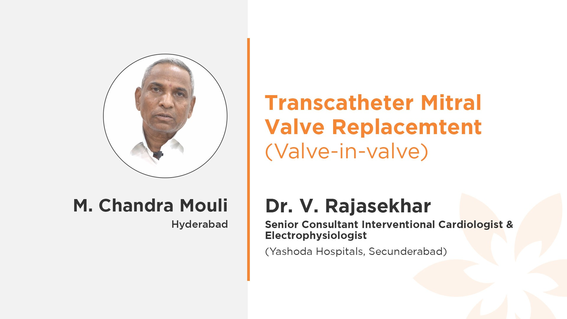 M. Chandra Mouli Dr. V. Rajasekhar Transcatheter Mitral Valve Replacement