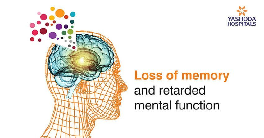 Alzheimer's is a condition marked by loss of memory and retarded mental function