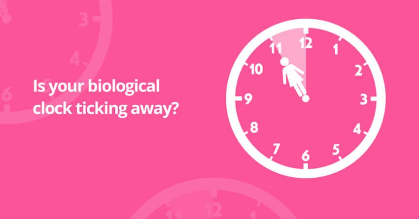 When your biological clock is ticking away?