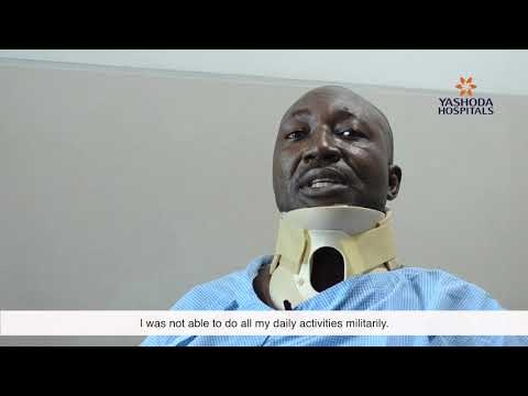 Patient Testimonial for Cervical Spine Surgery by Mr. Barnabas from Nigeria