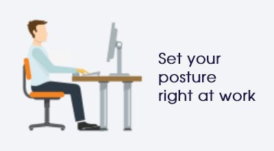 Posture at work Infographic