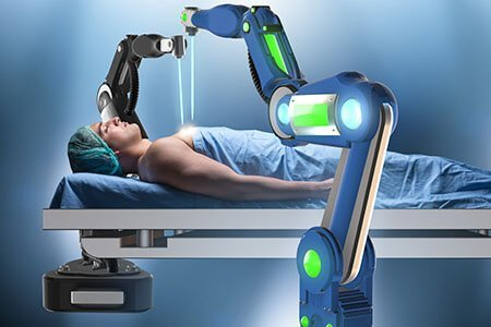 How does a robot-assisted surgical system function?