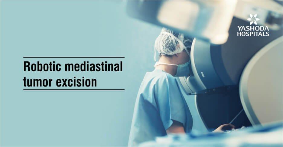 Robotic mediastinal tumor excision