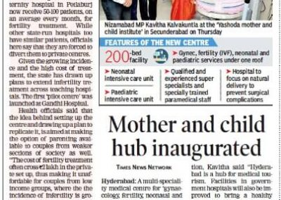 Times group-Inaugurated Mother & Child Institute