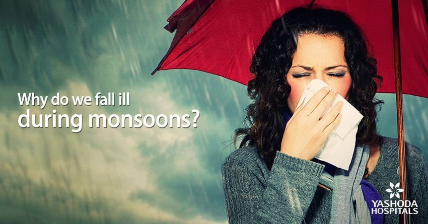 Why do we fall ill during monsoons