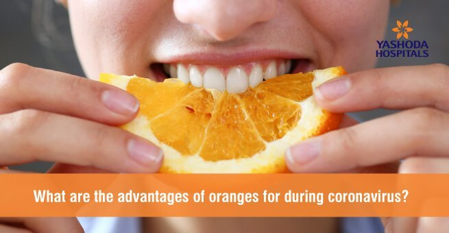 What are the advantages of oranges for curing coronavirus?