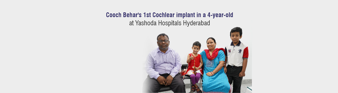 1st Cochlear implant in a 4-year-old