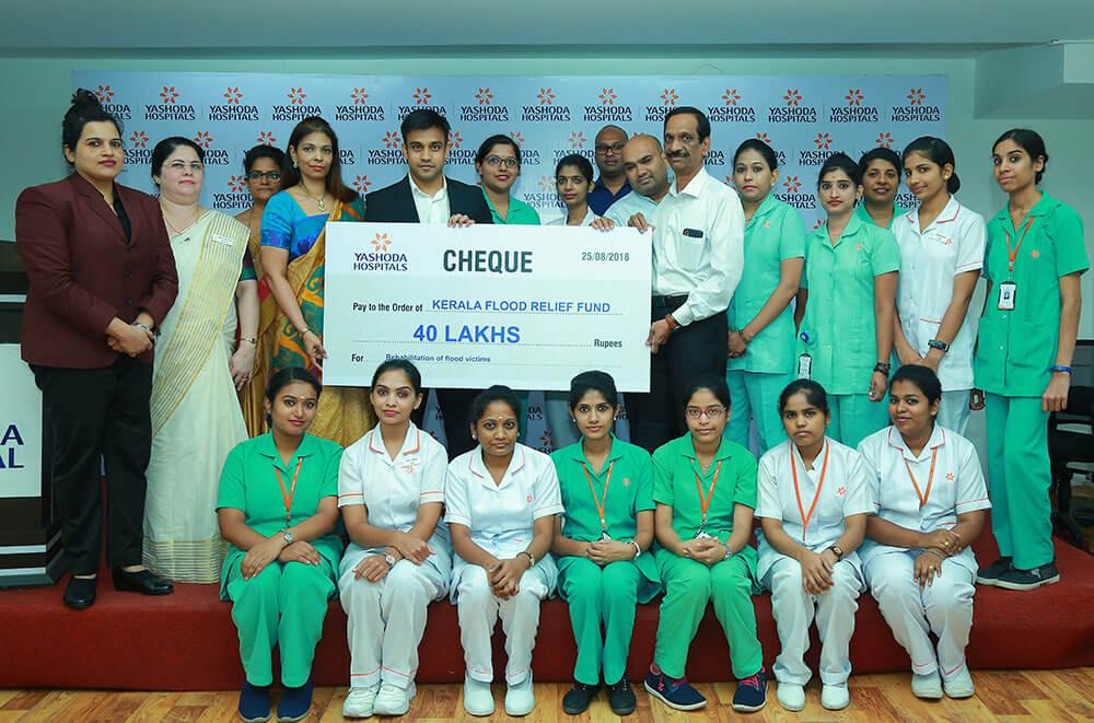 Yashoda Hospitals donates Rs 40L to Kerala