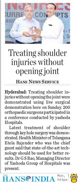 national conference on Shoulder Injuries hans