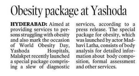 obesity package yashoda
