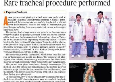 rare procedure of tracheal stenting