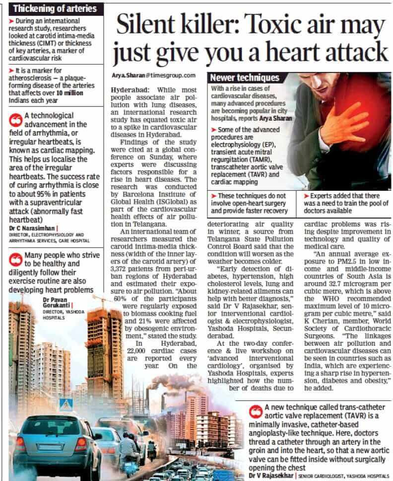 silent killer-toxic air may just give you a heart attack dr rajasekhar cardiologist