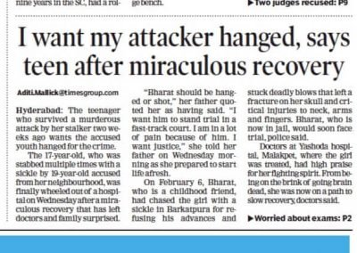 stalker attack victim madhulika-times