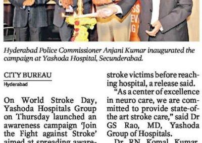 Yashoda hospitals Brain stroke awareness hyderabad